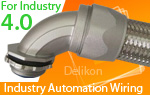 Delikon flexible conduit and fittings provides solid and reliable connection solutions for automation and Industry 4.0