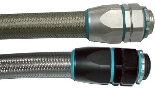 Flexible Conduit Aluminum Connector for Over Braided Flexible Conduit System